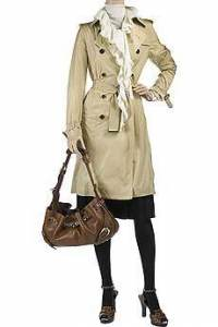 The classic Burberry trench coat makes a perfect final layer to any ensemble.