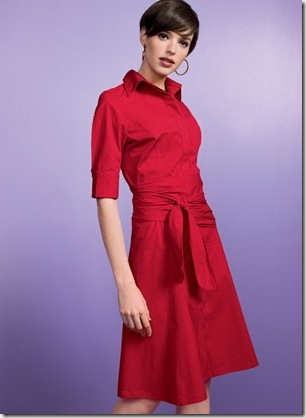Rebecca & Drew Red Sash Dress