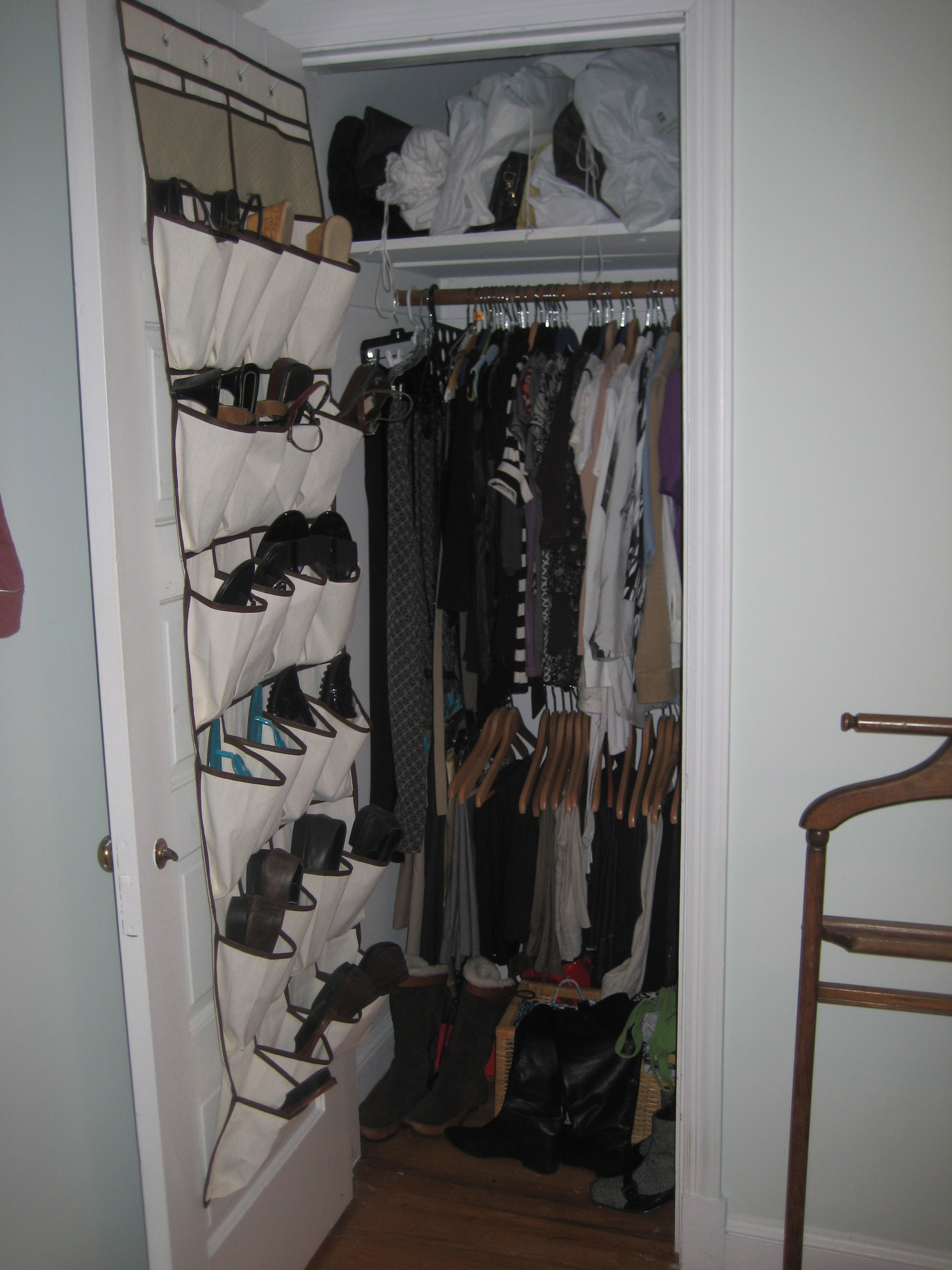 Fitting A 21st Century Sized Big Wardrobe Into A Small 1948 Closet, Like  This One