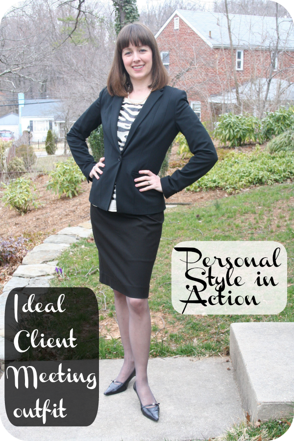 Personal style in action: Working mom client meeting outfit
