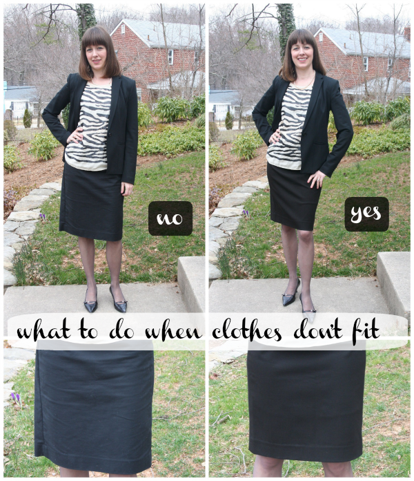 Working mom style advice from Frantic But Fabulous: What to do with clothes that don't fit
