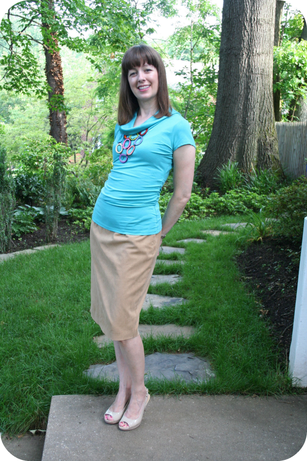 Working mom outfit of the week: What to wear to a job interview at a creative workplace.