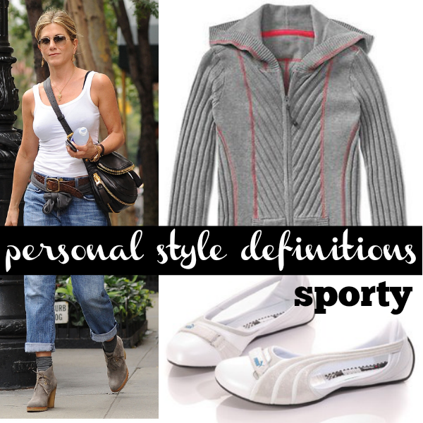 Sporty is the personal style category of sportswear, activewear and all forms of easy dressing. Is this your style?