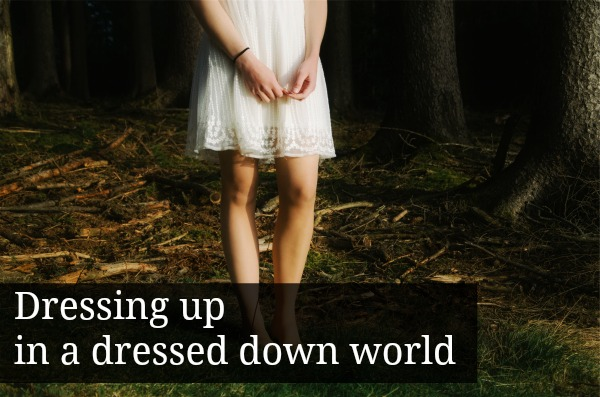 Girl in white cotton dress: Dressing up in a dressed down world